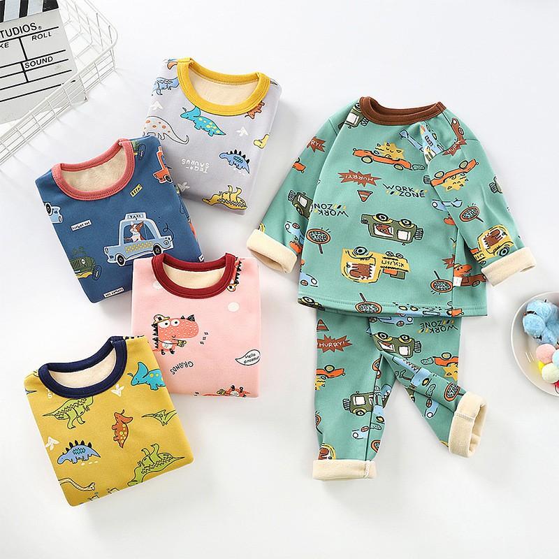 SALE!! Đồ bộ quần áo dài tay cho bé chất nỉ bông QATE355