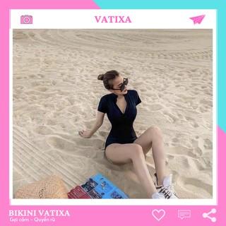 [HÌNH THẬT + FEEDBACK] Bikini, bodysuit, Đồ bơi một mảnh có tay khoá kéo VATIXA BKN01