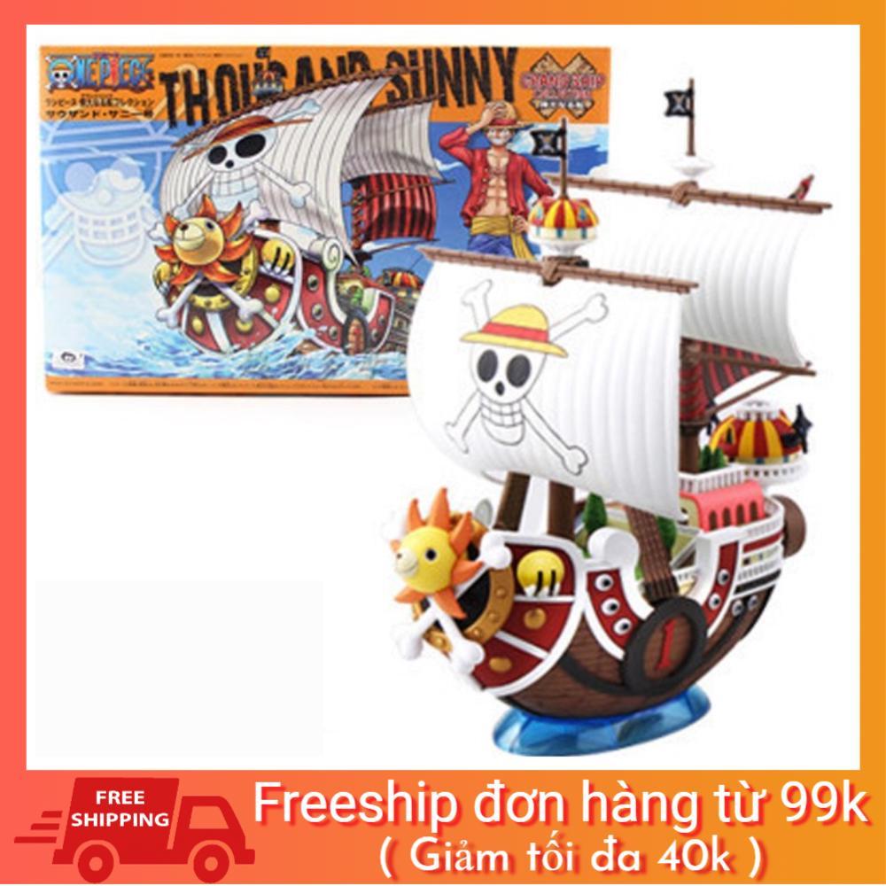 [BAO GIÁ SHOPEE] Mô Hình Thuyền Tàu Thousand Sunny Mũ Rơm Luffy One Piece hàng chuẩn loại đẹp tặng sticker one piece