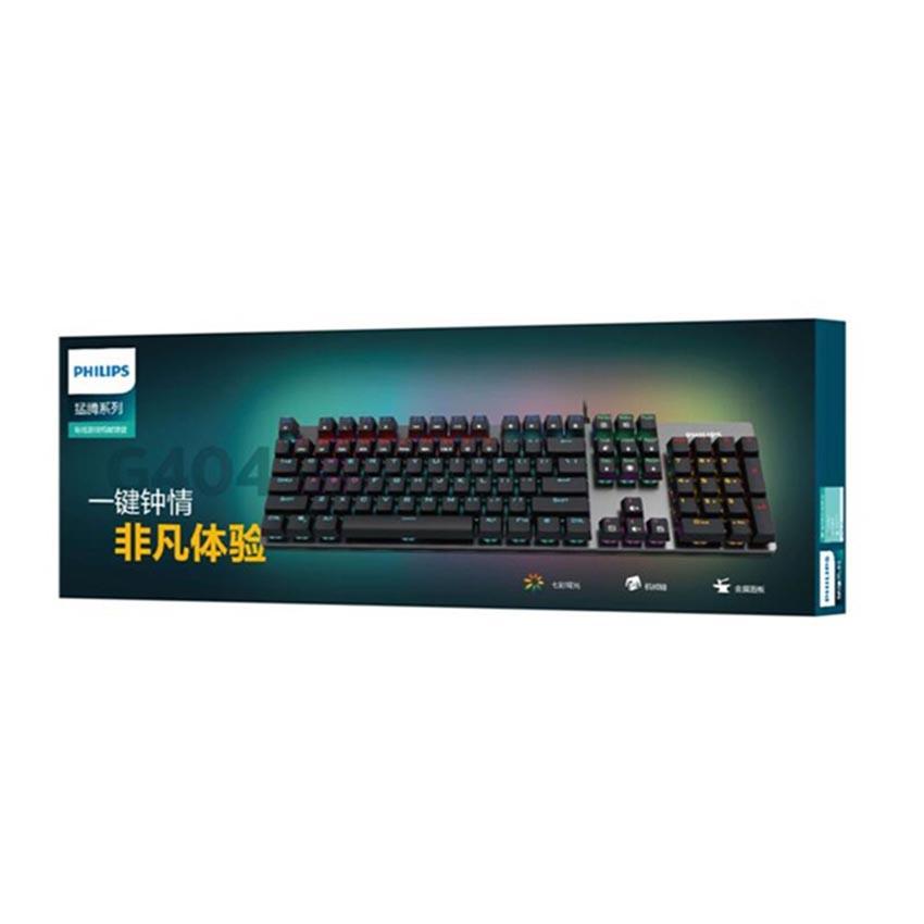 Bàn phím cơ gaming led blue switch 20s DREAM Philips SPK8404 - Chuyên game siêu bền gõ đã led đẹp lung linh
