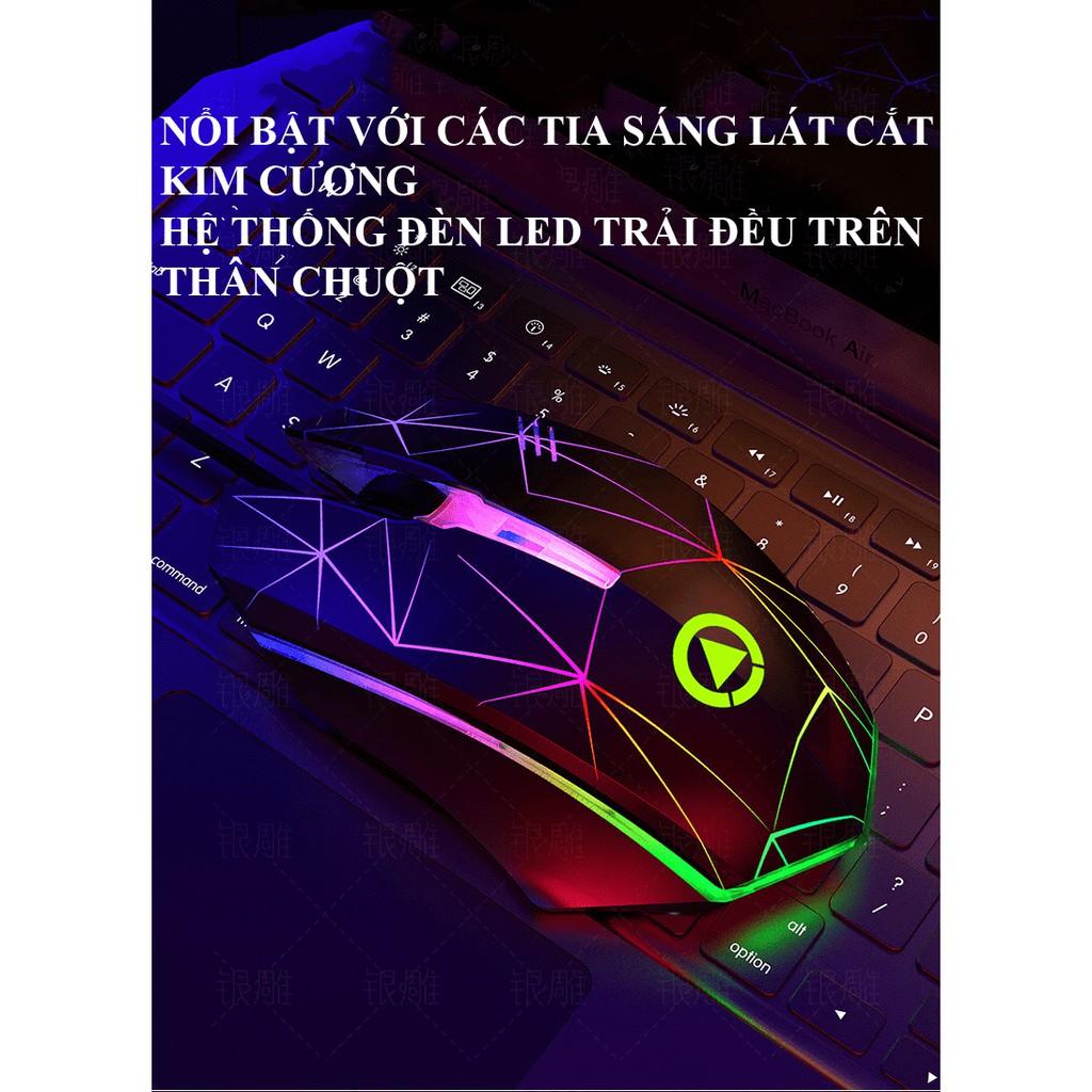 Chuột Game YINDIAO G6 Đèn led RGB màu tự thay đổi.