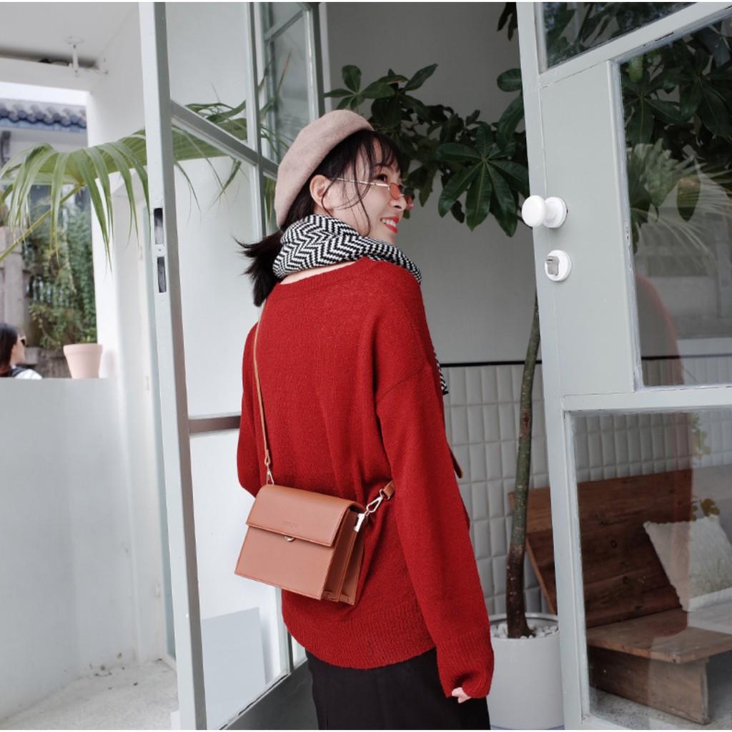 Túi Xách Nữ Đeo Chéo Thời Trang Công Sở Chính Hãng MICOCAH Dáng Vuông Phong Cách Châu Âu Siêu Đẹp MC07-Mozuno