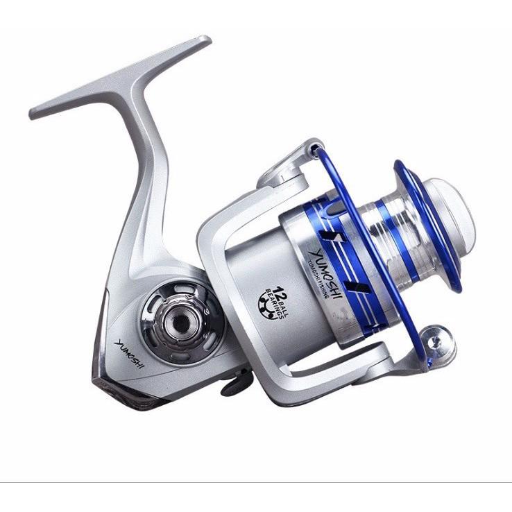 Máy câu cá yumoshi Al 12 bạc đạn