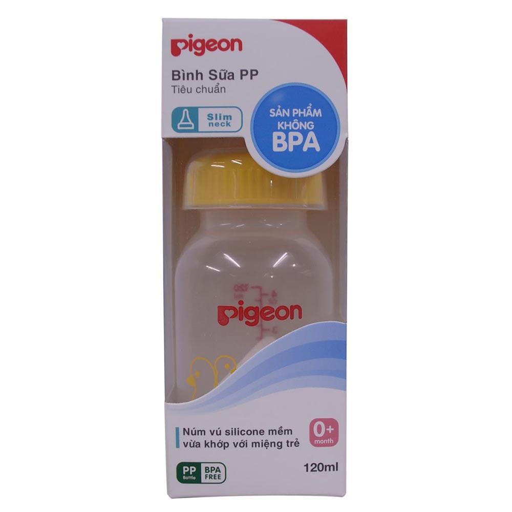 [Mã 267FMCGSALE giảm 8% đơn 500K] Bình sửa Pigeon PP Tiêu chuẩn 120ml và 240ml cho bé