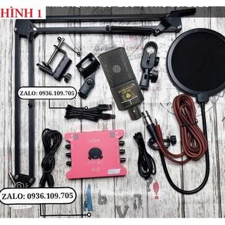 Combo Sound Card K10-2020 Và Micro Thu Âm LGT-240