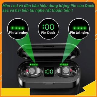 Tai Nghe Bluetooth 5.0 Amoi F9 Không Dây True Wireless Bản Quốc Tế Nút Cảm Ứng Kiêm Sạc Pin Dự Phòng paris01.shop