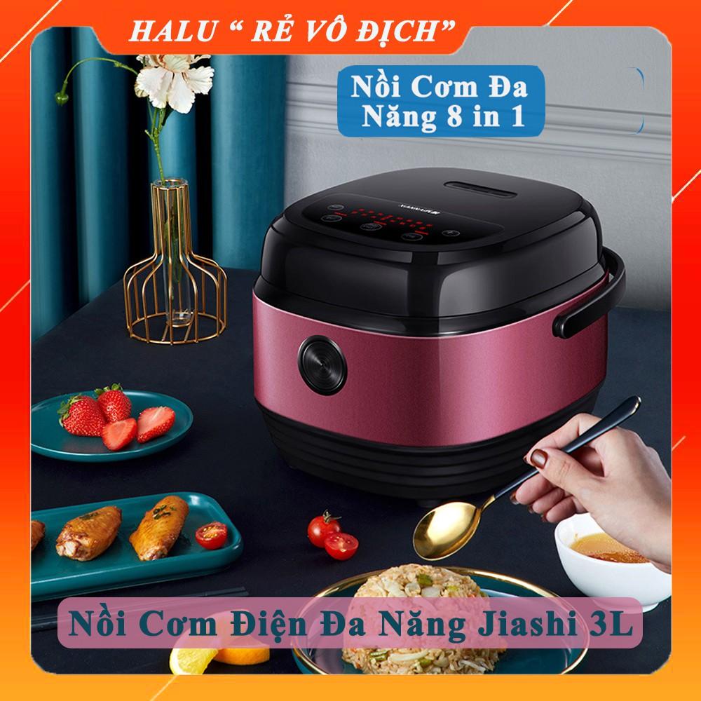 Nồi cơm điện đa năng Jiashi 1.2 - 3L nồi cơm điện tử nội địa cao cấp 8 chức năng nấu chậm, hầm, cháo, cơm niêu, hâm
