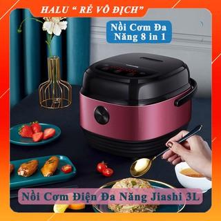 Nồi cơm điện đa năng Jiashi 3L [HÀNG SẴN] nồi cơm điện tử nội địa cao cấp 8 chức năng nấu chậm, hầm, cháo, cơm niêu, hâm