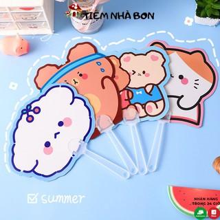 Quạt cầm tay mini hoạt hình dễ thương, Quạt mini nhựa hoạt hình nhiều mẫu xinh thumbnail