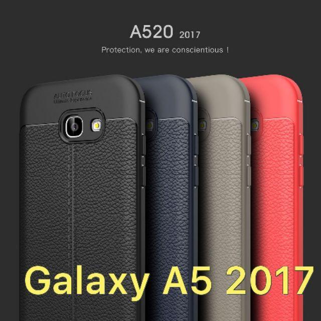 Ốp dẻo Galaxy A5 2017 vân giả da cao cấp