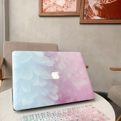 Ốp Macbook hình Lông Vũ Xanh Hồng ( tặng phủ phím ngẫu nhiên + nút chống bụi )