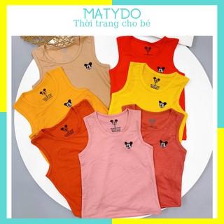 Áo phông cho bé áo ba lỗ sát nách chất cotton đũi thoáng mát cho trẻ từ 0-5 tuổi BL02