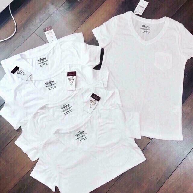 Áo phông cổ tim (2 màu trắng, đen)