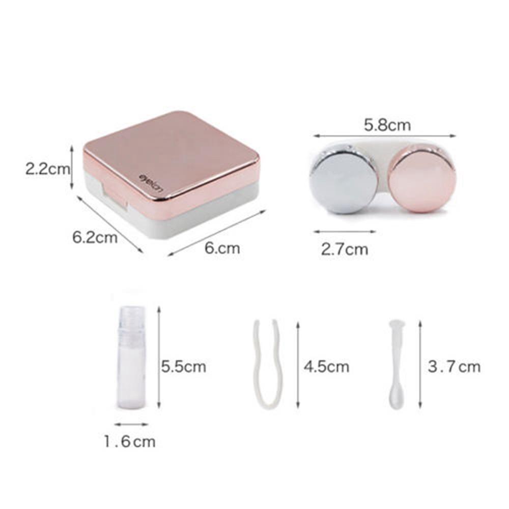 Hộp đựng kính áp tròng có gương tiện dụng và phụ kiện