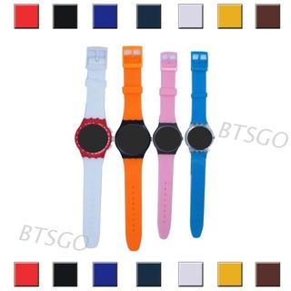Dây Đeo Silicon Cho Đồng Hồ Thông Minh Swatch 16mm 17mm 19mm 20mm