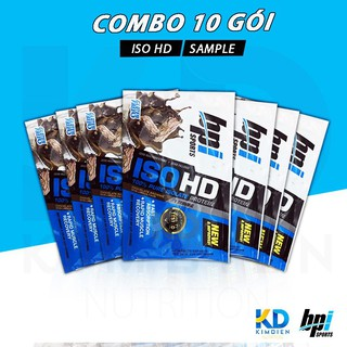 Combo 10 gói sữa tăng cân ISO HD 1 lần dùng (32gram)