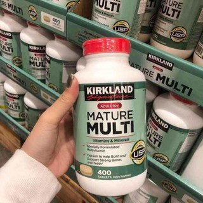 Viên bổ sung vitamin cho người lớn tuổi Kirkland Adult 50+ Mature Multi Vitamins & Minerals