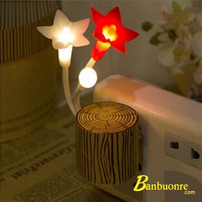 Đèn ngủ cảm ứng Hoa Ly, đèn ngủ để bàn, đèn ngủ cắm tường, quà tặng đèn ngủ, đèn ngủ cảm ứng ánh sáng