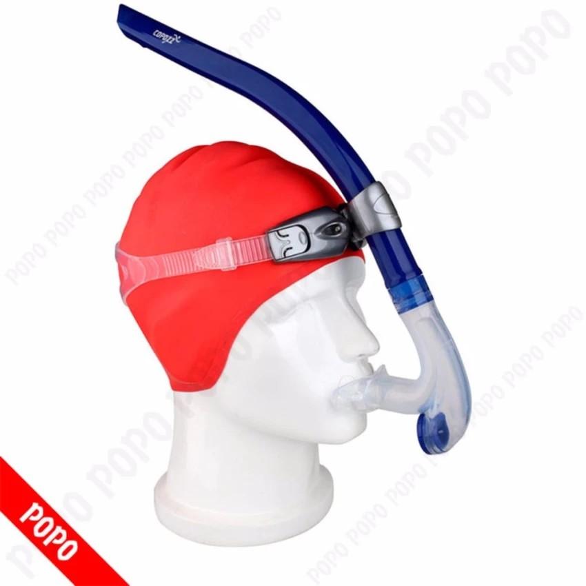 Ống thở chuyên nghiệp, gắn giữ mặt hỗ trợ lặn biển, tập bơi đúng động tác, chất liệu cao cấp POPO Co