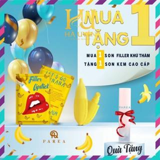Son , Son filler Khử Thâm Collagen Son Chuối Banana fliller Lipstick Tặng 01 Son Kem Siêu Lì P.A.R.E.A [ Chính - Hãng ] thumbnail