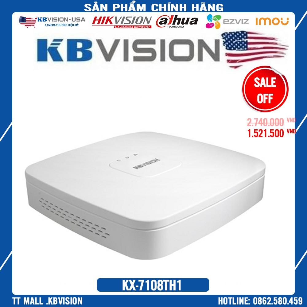 {Mùa Siêu Sale} Đầu ghi hình 8 kênh 5 in 1 KBVISION KX-7108TH1