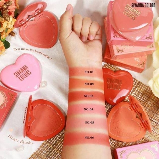 Phấn Má Hồng Sivanna Colors So Chic Long Lasting 16 House Blush HF6025 9g |  Shopee Việt Nam