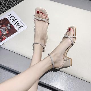 Giày Cao Gót Đính Đá Xinh Xắn Dành Cho Nữ 2020