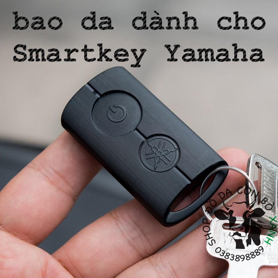 Bao Da Chìa Khóa Smartkey Yamaha NVX, Janus, Nozza Grande, FreeGo, Latte handmade da thật