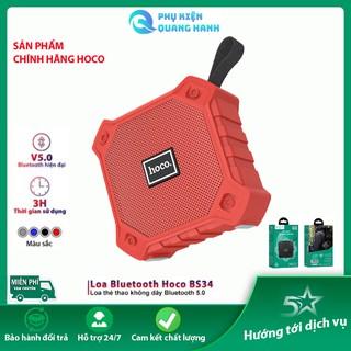 Loa Bluetooth mini Hoco BS34  công nghệ V5.0 chống nước - Nhỏ gọn, hỗ trợ thẻ nhớ, USB, jack 3.5mm