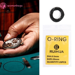 READYWB❀200pcs Waterproof O-Ring Watch Back Seal Cover Gaskets Watch Repair Tool