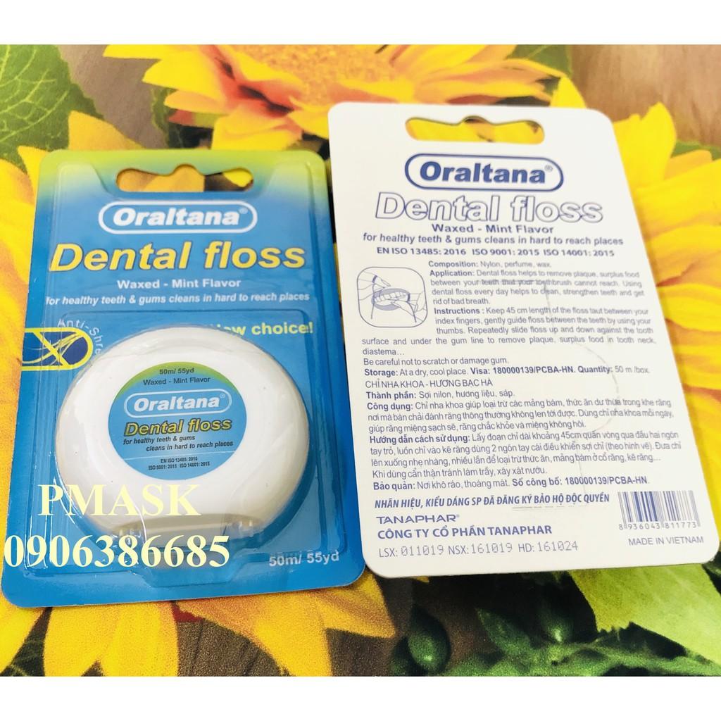 Chỉ nha khoa Oraltana 50m/ Cuộn - Chỉ nha khoa hương bạc hà Oraltana Dental Floss