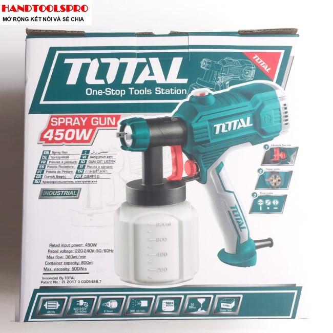 450W Súng phun sơn điện Total TT3506