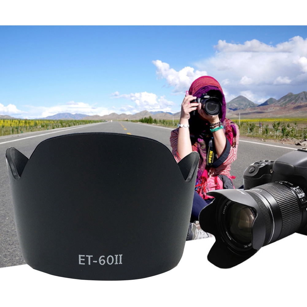 Removable Camera Lens Hood Portable Multifunction Bayonet Mount Shading Protection Anti Smog Scratchproof For Canon