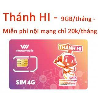 Sim DATA THÁNH HI - 9GB/tháng/20k