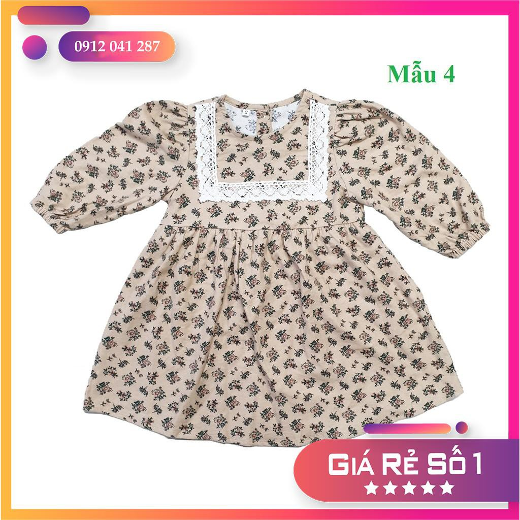 Váy bé gái💖Váy họa tiết hoa nhí💖Chất vải Thô Cào Bông💖Size 2 - 6 (12kg - 24kg)💖Nhiều màu sắc