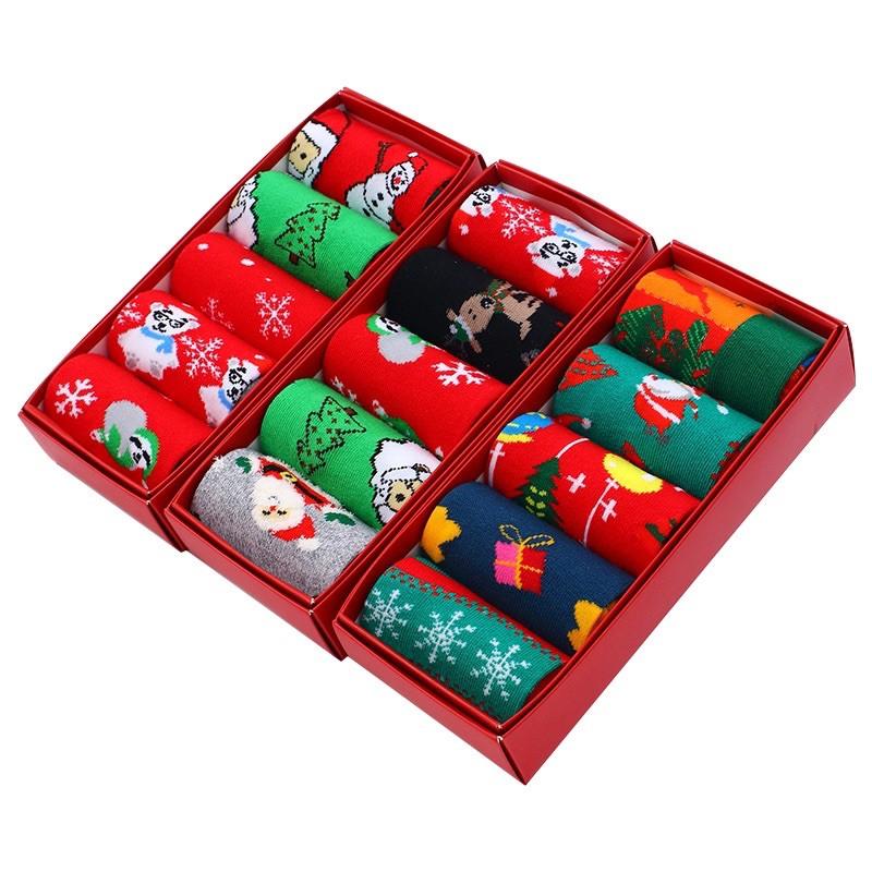 Vớ Tất Cổ Cao Noel [FREESHIP] dành cho cả nam và nữ có bán lẻ và set hộp quà tặng