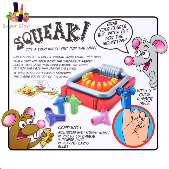 Mousetrap Shape Hand Biting Tabletop Game Parent-Child Interaction Puzzle Toy