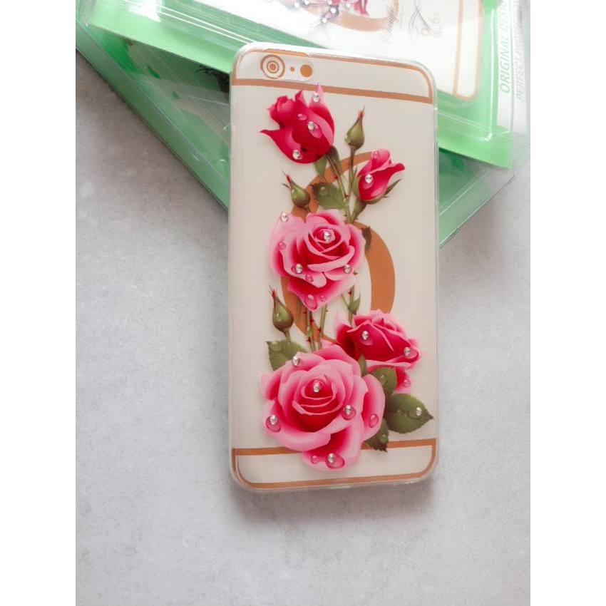 Ốp lưng dẻo cho iPhone 6 plus(Họa tiết hoa văn).