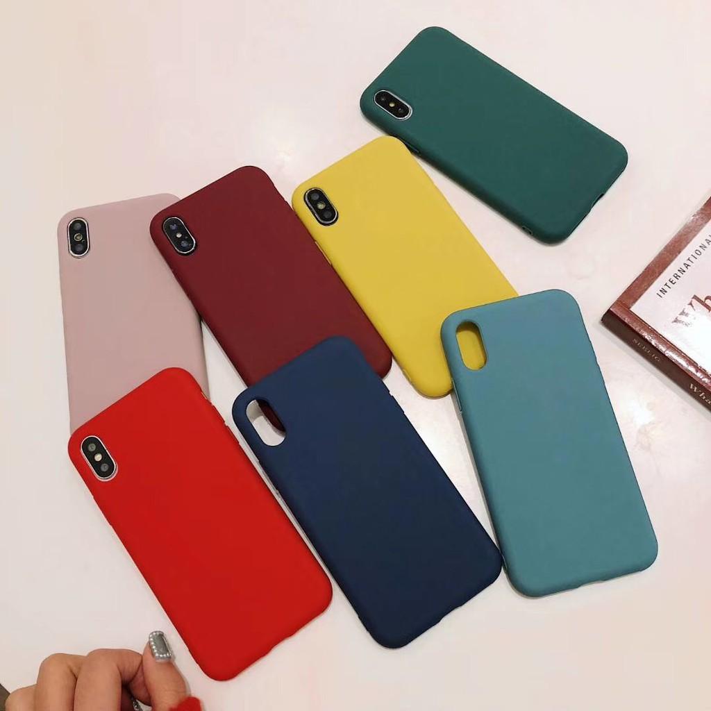 ốp lưng màu trơn thời trang cho điện thoại iphone x