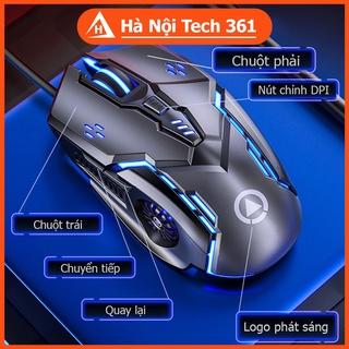 Chuột Máy Tính GEARMAX K89 Có Dây Dành Cho Game Thủ Và Văn Phòng - Hiệu Ứng LED 7 Màu, DPI 4 Cấp Độ - BH 12 tháng thumbnail