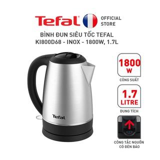 Bình đun siêu tốc Tefal KI800D68 - inox - 1800W, 1.7L thumbnail