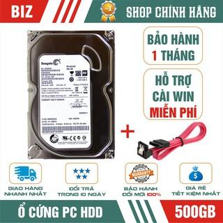 Ổ cứng HDD 500GB Seagate -Tặng kèm cáp SATA - Bảo hành 1 tháng 1 đổi 1!!!