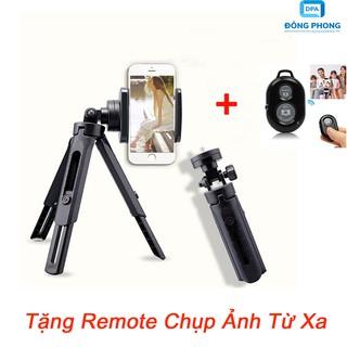 Combo Tripod Support 3 Chân Cho Điện Thoại, Máy Ảnh Tặng Remote thumbnail
