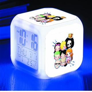 Đồng hồ báo thức để bàn in hình One Piece, Shin, Spirited Away... anime chibi