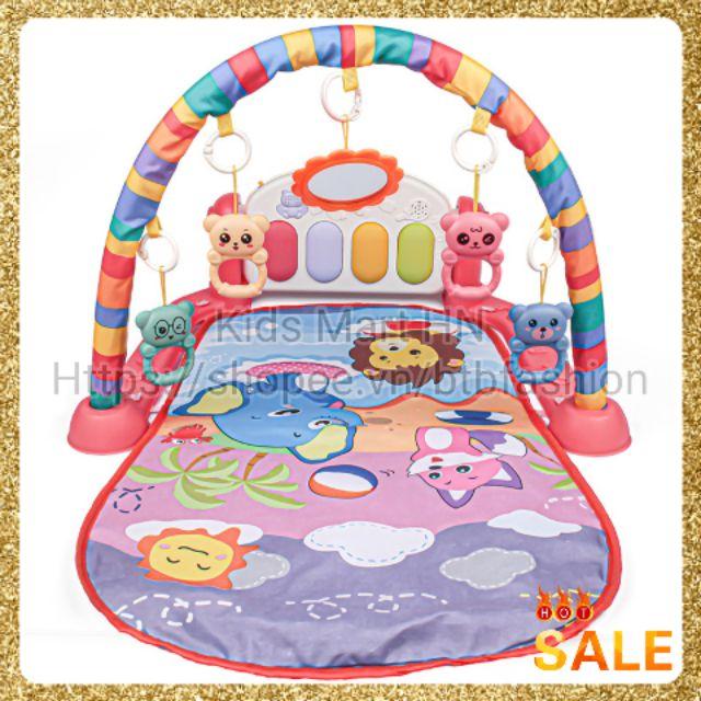 [Mẫu mới 2021, Loại cao cấp] Thảm nhạc đồ chơi cho bé voi đỏ voi xanh