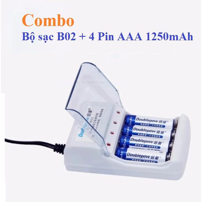 Combo bộ sạc pin đa năng Doublepow DP-B02 và 4 pin tiểu sạc Doublepow AAA 1250mAh - 2887674 , 965150474 , 322_965150474 , 200000 , Combo-bo-sac-pin-da-nang-Doublepow-DP-B02-va-4-pin-tieu-sac-Doublepow-AAA-1250mAh-322_965150474 , shopee.vn , Combo bộ sạc pin đa năng Doublepow DP-B02 và 4 pin tiểu sạc Doublepow AAA 1250mAh