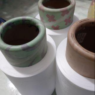 Tơ vắt sổ màu trắng 150 – 23k/ống – tơ chỉ may công nghiệp giá rẻ