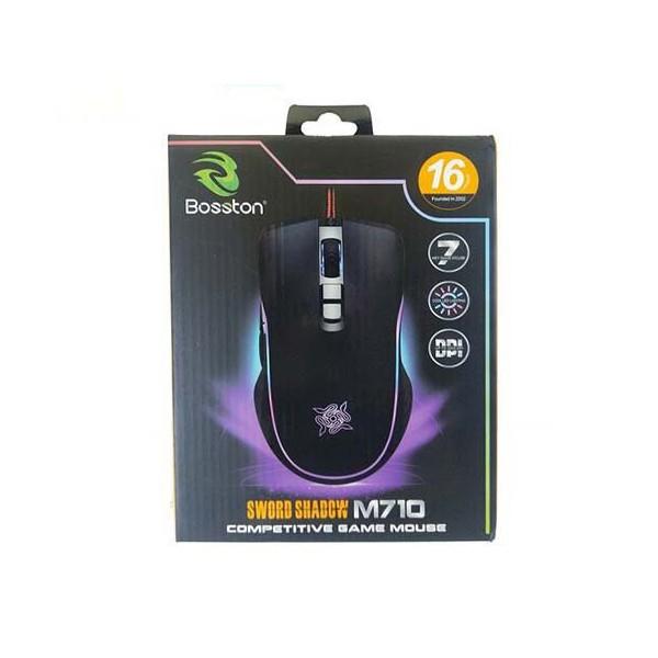 Chuột game 7D cao cấp Bosston M710 DPI 3200-Led RGB cực đẹp - Chuột Gaming Bosston M710 Đèn Led RGB