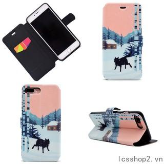 🔆 iphone 7 8 7Plus/8Plus Snow Wolf Cover 6/6s 6Plus/6s plus leather Case
