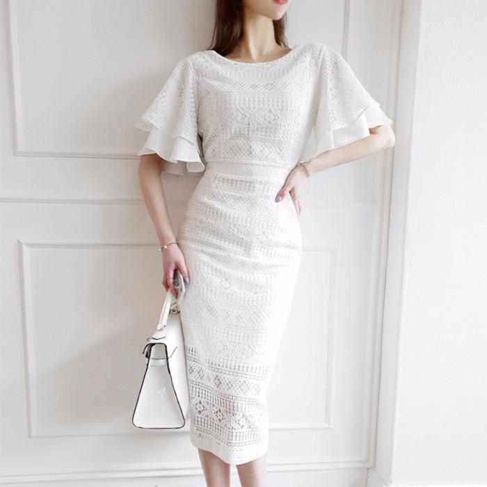 Đầm phối ren thời trang Hàn Quốc dành cho nữ